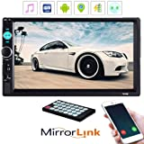 Dayangiii Car Radio MP5 Player 2 Din 7inch Touch Screen Audio Stereo Bluetooth USB AUX Multimedia Player 7010B with Rear View Camera