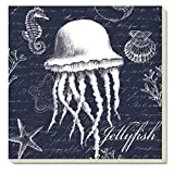 CounterArt Jellyfish Absorbent Coasters, Set of 4