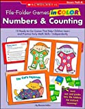 img - for File-Folder Games in Color: Numbers & Counting: 10 Ready-to-Go Games That Help Children Learn and Practice Early Math Skills-Independently book / textbook / text book