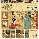 Graphic45 Bird Song 12x12 Scrapbook paper pad