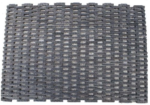 "Durable Corporation 400S2437 Natural Pile Top Rubberized Fabric Dura Rug 400 Tire Link Entrance Mat, 37"" L x 24""W x 3/4"" Thick, For Outdoor and Vestibule"