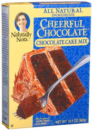 Naturally Nora Cheerful Chocolate Cake Mix, 19.1-Ounce Boxes (Pack of 6)