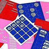 BMC Uber Cute 9pc Mixed Pattern Manicure Nail Art Vinyl Stickers Set