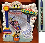 CALIFORNIA ADVENTURES California Screamin 5x7 Picture Frame - Disney Parks Exclusive & Limited Availability + Mickey Surf Pen Included