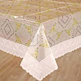 Bianca La-Italia PVC 6 Seater Table Cloth - White