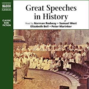 Great Speeches in History (Unabridged Selections) | [Socrates, Martin Luther]