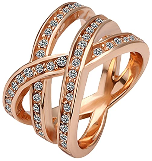 XRTKJ Women's Brass Wedding Ring