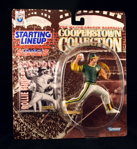 ROLLIE FINGERS / OAKLAND A'S 1997 MLB Cooperstown Collection Starting Lineup Action Figure & Exclusive Trading Card