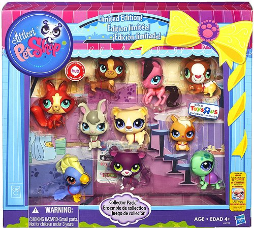 Littlest Pet Shop Limited Edition Collector`s 10-Pack [Horse, Panther, Dachshund, Cockatoo, Guinea Pig, Hamster, Turtle, Fox, Bear and Bunny]