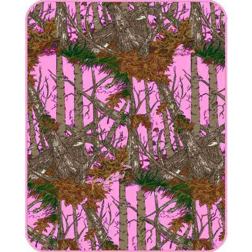 The Woods Hunting Camouflage, Baby Blanket, Pink - 1