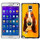 FU Orionis Colorful Printed Hard Protective Back Case Cover Shell Skin for Samsung Galaxy Note 4 IV SM N910 basset hound  pendant ear dog