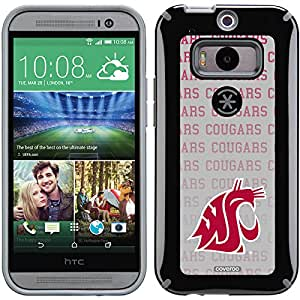 Coveroo CandyShell Cell Phone Case for HTC One M8 - Retail Packaging - Washington State Cougars Repeating