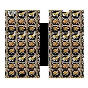 Skintice Designer Flip Cover with Vinyl wrap-around for Micromax Canvas Silver 5, Design - camel art