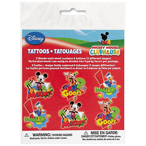 Unique Mickey Mouse Tattoos (12 Count) - 1