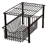 DecoBros Stackable Under Sink Cabinet Sliding Basket Organizer Drawer (Bronze)