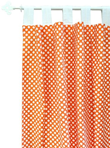 New Arrivals Curtain Panels, Zig Zag in Tangerine