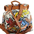 Punk Pop Art Print Twin Pocket Backpack / Rucksack / School Bag from SWANKYSWANS
