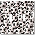 Art Plates - Soccer Balls Switch Plate - Double Toggle