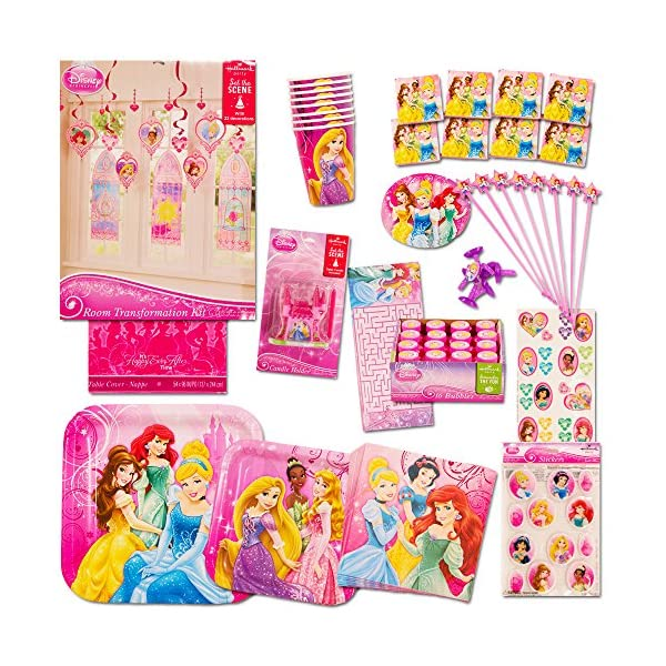 Disney Princess Party Supplies Ultimate Set 150 Pieces Favors Birthday Decorations Plates Cups Napkins Table Cover And More