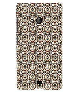 Fuson Premium Circles Pattern Printed Hard Plastic Back Case Cover for Microsoft Lumia 540