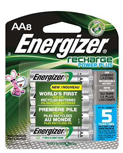 Energizer Recharge Power Plus AA 2300 mAh Rechargeable Batteries, Pre-Charged,  8 count (Energizer Battery Aa compare prices)