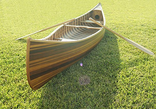 Old Modern Handicrafts Canoe with Ribs Curved Bow Matte Finish, 12'