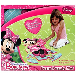 Amazon Com Disney Minnie Mouse Bow Tique 25 Piece Floor