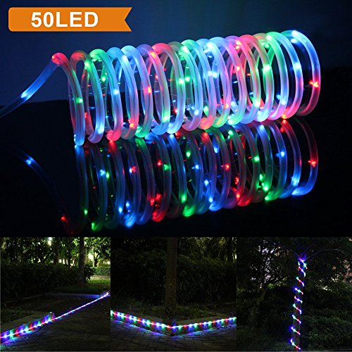 Lte 50 led solar rgb rope lights 23ft outdoor waterproof led lte 50 led solar rgb rope lights 23ft outdoor waterproof led solar rope lights aloadofball Gallery