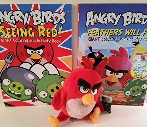 2 Angry Birds Giant Coloring and Activity Books with Red Bird (Angry Birds Color Book compare prices)