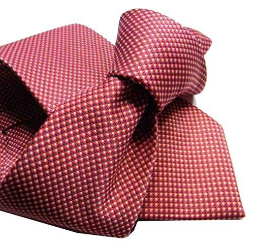 CRAVATTA ROSSO BORDEAUX con microdisegni cravatte rosse uomo di facile abbinata colore colour rosso bordeaux red rouge misura cm 8 APPLICAZIONE a fantasia 6