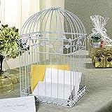 White Birdcage Wedding Gift Card Holder Wishing Well