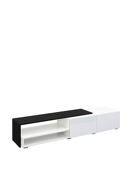 Symbiosis 3255a0219l02Waschtisch TV mit 2Schubladen Holz Weiß/Schwarz 168x 32x 42cm