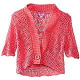 Derek Heart Big Girls' Pointelle Cardigan Sweater