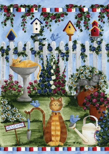 Toland Home Garden Cats 12 5 X 18 Inch Decorative Usa