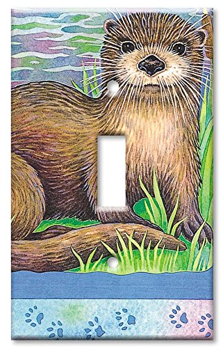 Art Plates - River Otter Switch Plate - Single Toggle