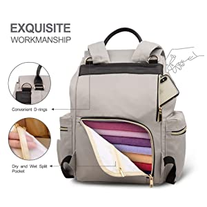 Large Capacity and Durable Blue Multifunction Stylish Travel Backpack Maternity Nappy Bag for Baby Care Vogshow Waterproof Diaper Bag