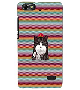 PrintDhaba Kitty D-3310 Back Case Cover for HUAWEI HONOR 4C (Multi-Coloured)