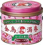 金鳥の渦巻 ローズの香り 30巻 (缶) (防除用医薬部外品)