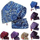 WSS Caja de regalo gemelos cuadrados de corbata seda cuatro piezas . 7