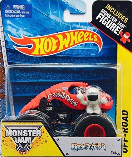 Hot wheels Monster Jam CrushStation red lobster #64 includes monster jam figure - 1