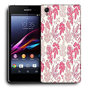 Snoogg Red Leaves Printed Protective Phone Back Case Cover For Sony Xperia Z1