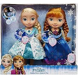 Disney Frozen Singing Sisters, Light Up Elsa and Anna Dolls, Multicolor