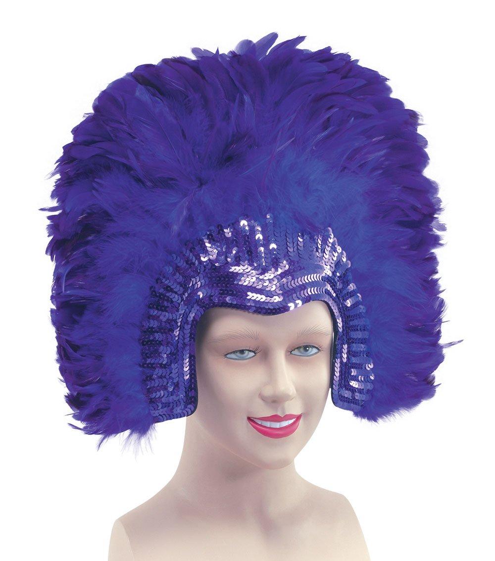 Feather Headdress Purpledeluxe (Costume Accessories) - Female - One Size bristol