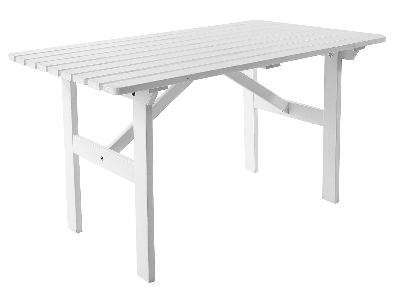 Ambientehome Gartentisch Tisch Massivholz Esstisch HANKO, Weiß