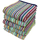 【残糸を使った】エコカラフル バスタオル(約60×120cm) 5枚セット【送料無料】