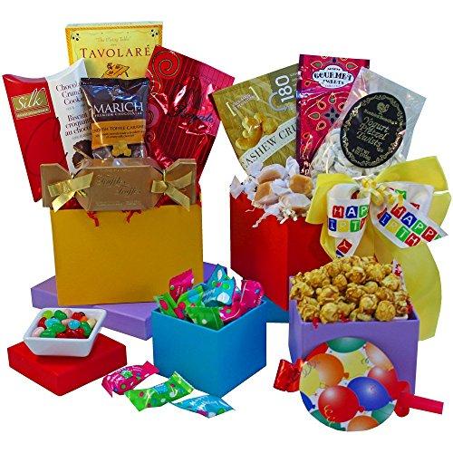 Happy Birthday Gift Tower By Gourmetgiftbaskets Com: Art Of Appreciation Gift Baskets Happy Birthday Gourmet