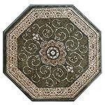 Traditional Octagon Area Rug Design # 404 Green (4 Feet X 4 Feet) Octagon