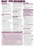 Microsoft Access 2010 Intermediate Quick Reference Guide (Cheat Sheet of Instructions, Tips & Shortcuts - Laminated Card)