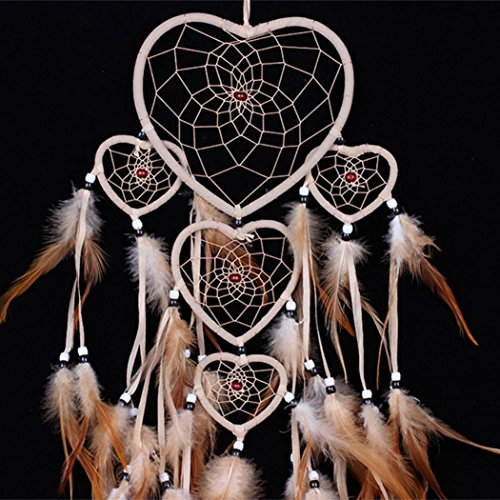 RIUDA 1PC Dream Catcher Circular Feathers Wall Hanging Decoration Decor Craft