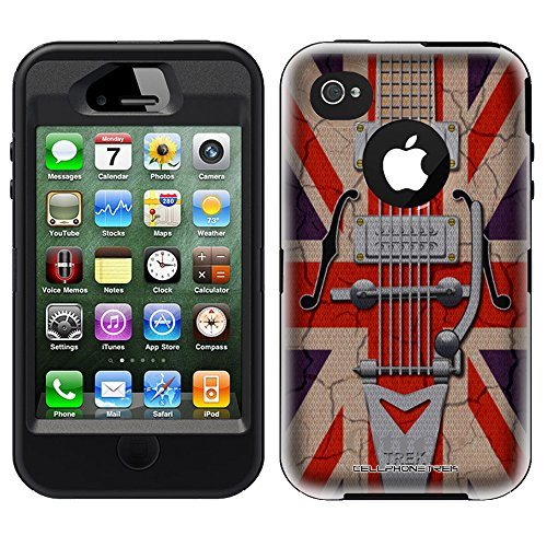 Otterbox Defender Retro Electric Guitar With Union Jack Flag For Iphone 4